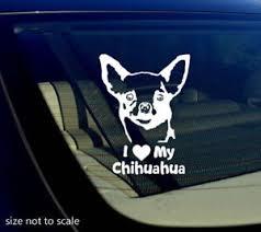 I Love My Chihuahua Sticker Decal Heart Dog Animal Car 5 4923273122391 Ebay