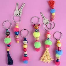 beaded doll key chain diy keychain