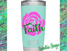 Vinyl Decal Rose Decal Tumbler Decal Decal For Cup Decal Etsy