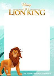 8 Free Printable Lion King Invitation Templates Tarjetas