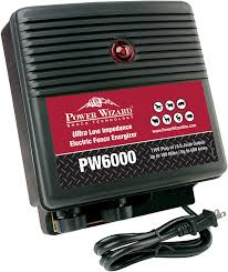 Amazon Com Power Wizard Pw6000 Ultra Low Impedance 100 Mile Electric Fence Energizer Home Improvement
