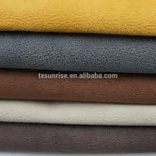 embossed suede leather like sofa fabric