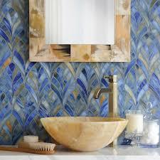 bathroom fish scale mosaic tile