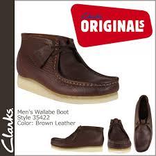 clarks originals wallabee boot brown