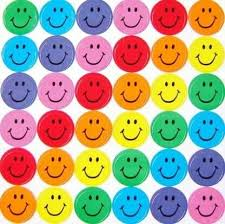 background rainbow smiley faces