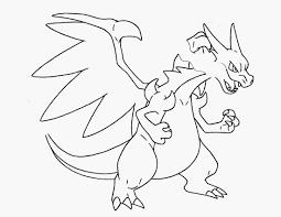 Pokemon Coloring Pages Mega Charizard X