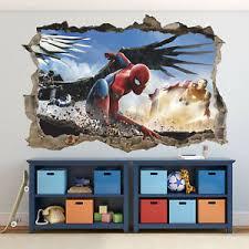 Spiderman 3d Wall Decal Iron Man Marvel Removable Vinyl Wall Sticker Ebay