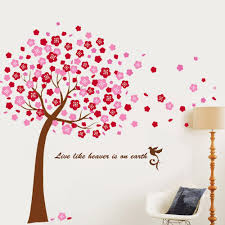 Black Tree Blossom Animals Wall Stickers Vinyl Decal Nursery Baby Independence