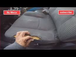 fix a torn car seat and repair the foam