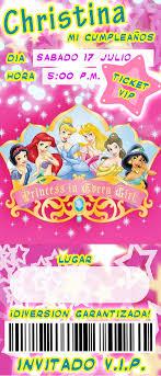 Tiker De Las Princesas De Disney Buscar Con Google