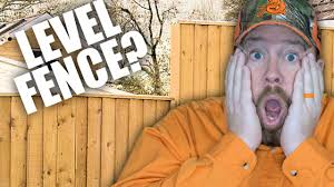 How To Build A Fence On Uneven Ground Youtube