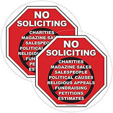 Amazon Com 2 Pack Safety Magnets No Soliciting Vinyl Static Cling Decal No Trespassers Sticker For Homes Offices Businesses Modern Door Porch Window Decor Sign Black Red Inside
