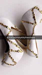 gold shoes womens custom white w gold