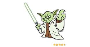 4x Yoda Style 1 Vinyl Decal Sticker Laptop Tablet Truck Window Star Wars