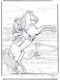 Cowboy Op Paard Kleurplaat Sport