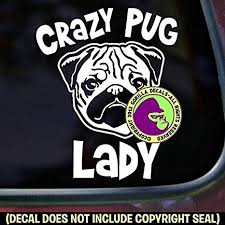 Crazy Chihuahua Lady Vinyl Decal Sticker Puppy Paw Prints Car Bumper Window