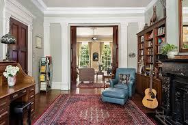 modern living room dark hardwood floors
