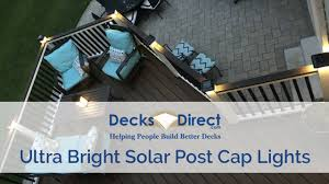 Ultra Bright Technologies Solar Post Cap Lights Youtube