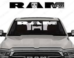 Windshield Decal For Dodge Ram 1500 Ecodiesel 3 0 L Pickup Etsy