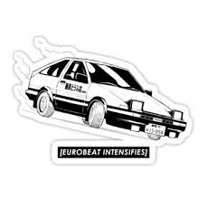 Eurobeat Intensifies Ae86 Kansei Dorifto Initial D Car Sticker Initial D Car Ae86 Initial D