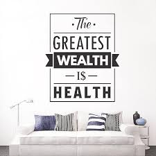 Health Quote Vinyl Wall Decal Medical Office Home Gym Inspiration Saying Wall Stickers Mural Bedroom Wall Tattoo Decor Wall Graphics Vinyl Wall Lettering Decals From Joystickers 12 66 Dhgate Com