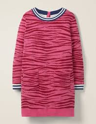 print knitted dress pink ruby