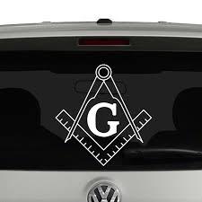 Freemason Emblem Square And Compass Vinyl Decal Sticker