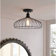 caged dome semi flush mount