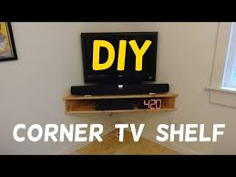 build this floating corner tv stand
