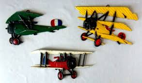 vintage airplane wall art metal biplane