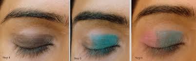 blue and pink eye makeup tutorial