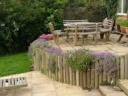 wood retaining wall ideas landscape