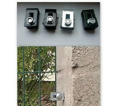 Galvanized Black Green Fence Post Panels Clips Clamps Ebay