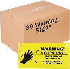 Amazon Com Zareba Ws3 Electric Fence Warning Signs 30 Pack 30 Garden Outdoor