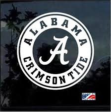 Alabama Crimson Tide Round Window Decal Sticker Custom Sticker Shop