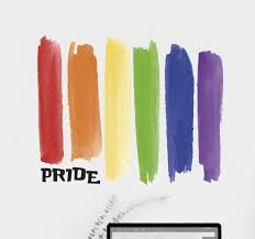 Gay Pride Flag Wall Sticker Tenstickers