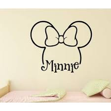 Oakwooddecals Minnie Mouse Inspired Outline And Bow Vinyl Words Wall Decal Wayfair