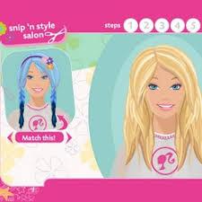 barbie hair salon games