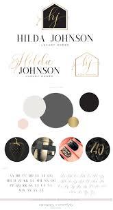 Hilda Johnson Logo Set • Macarons and Mimosas