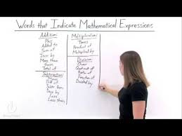 writing expressions solutions