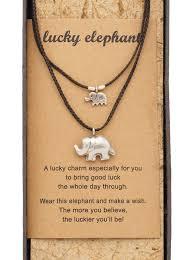 necklace with 2 elephant pendants