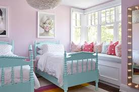 turquoise blue spindle twin beds with