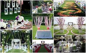 outdoor wedding decorations garden weddings