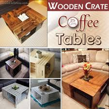 20 diy wooden crate coffee tables