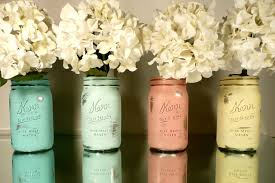 mason jars on the inside and fill them