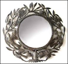 metal mirror wall decor birds and