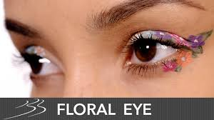 flower eyeliner makeup tutorial