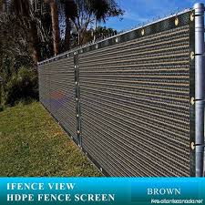 Ifenceview 4 X100 Brown Shade Cloth Fence Privacy Screen Fabric Mesh Net For Construction Site Yard