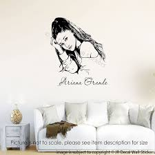 Amazon Com Ariana Grande Wall Art Stickers Ariana Grande Removable Vinyl Wall Decals Bedroom Home Decor Handmade