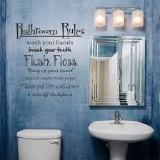 Shop Bathroom Rules Wash Vinyl Wall Home Decor Decal Quote Room Inspirational Cute Online From Best Wall Stickers Murals On Jd Com Global Site Joybuy Com
